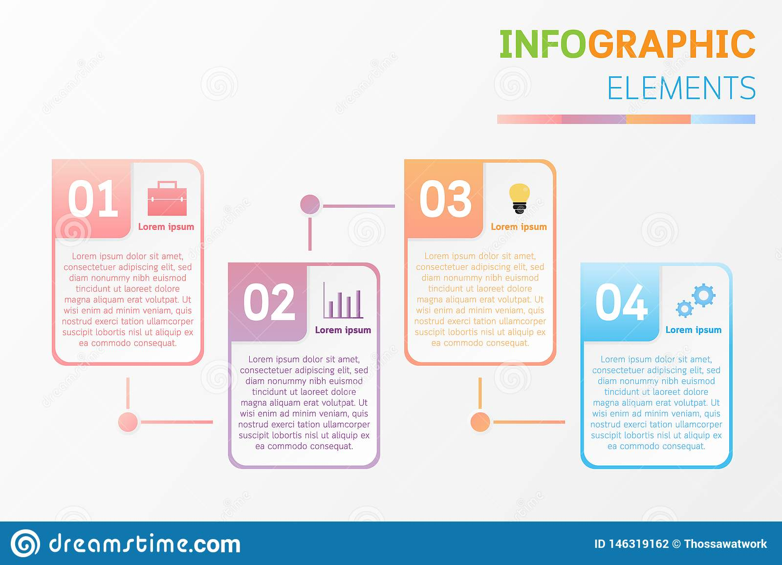 Infographic elements design with icons, number, text.