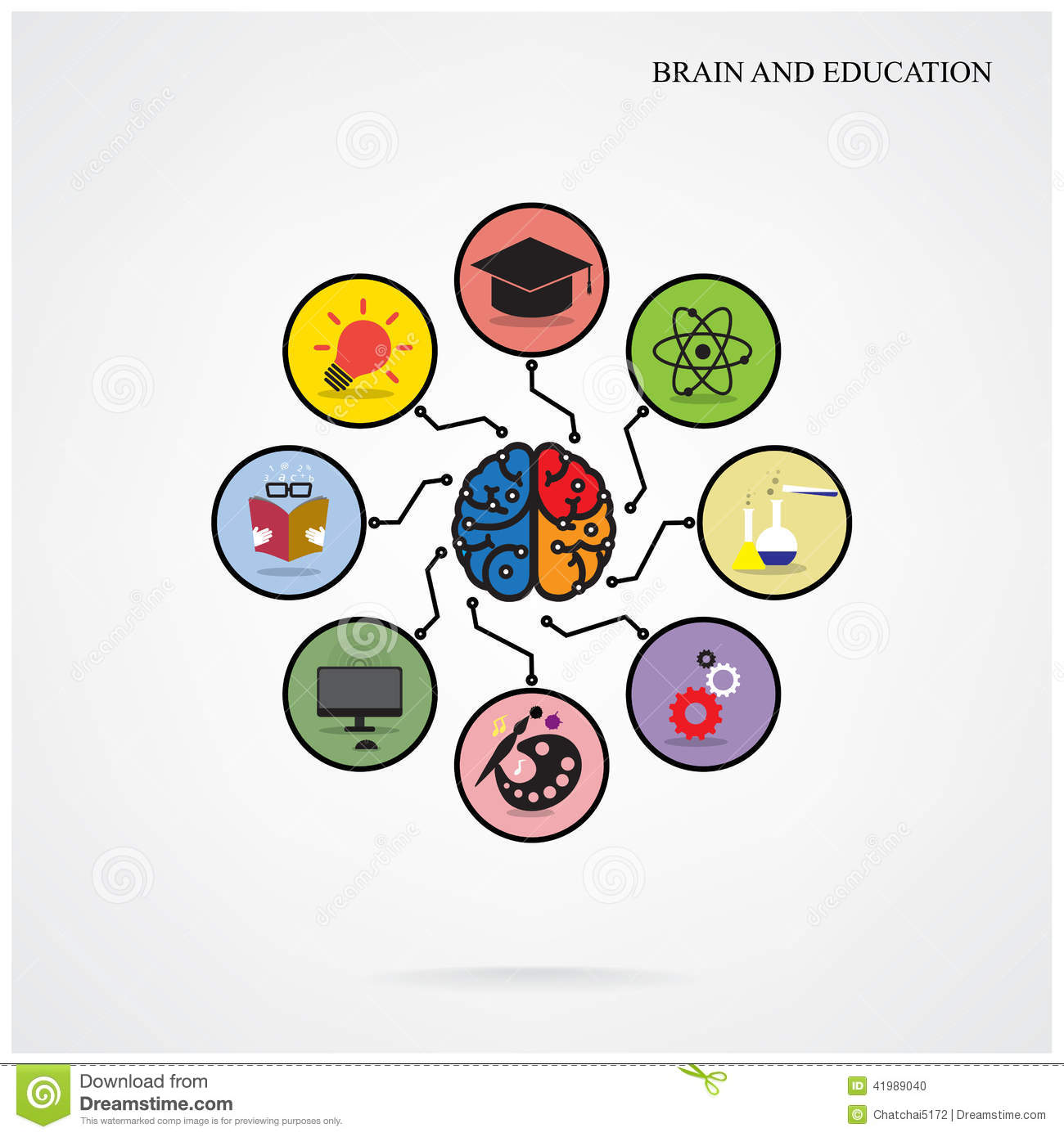 Poster design education - Infographic Template Creative Brain Education And Science Concep Stock Vector