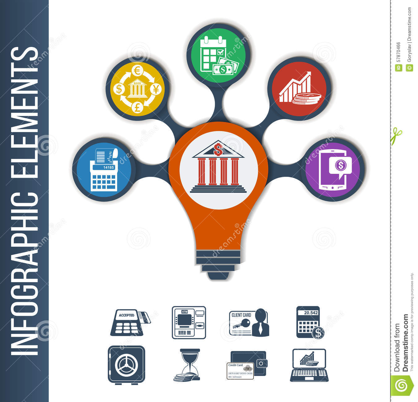Financial Services: Infographic Template For Different Bank & Financial