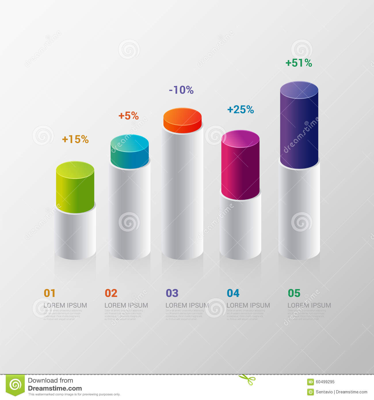 Infographic Template: Indicator Bar Graph Chart Graphic Stock Vector    Illustration Of Banner, Chart: 60499295