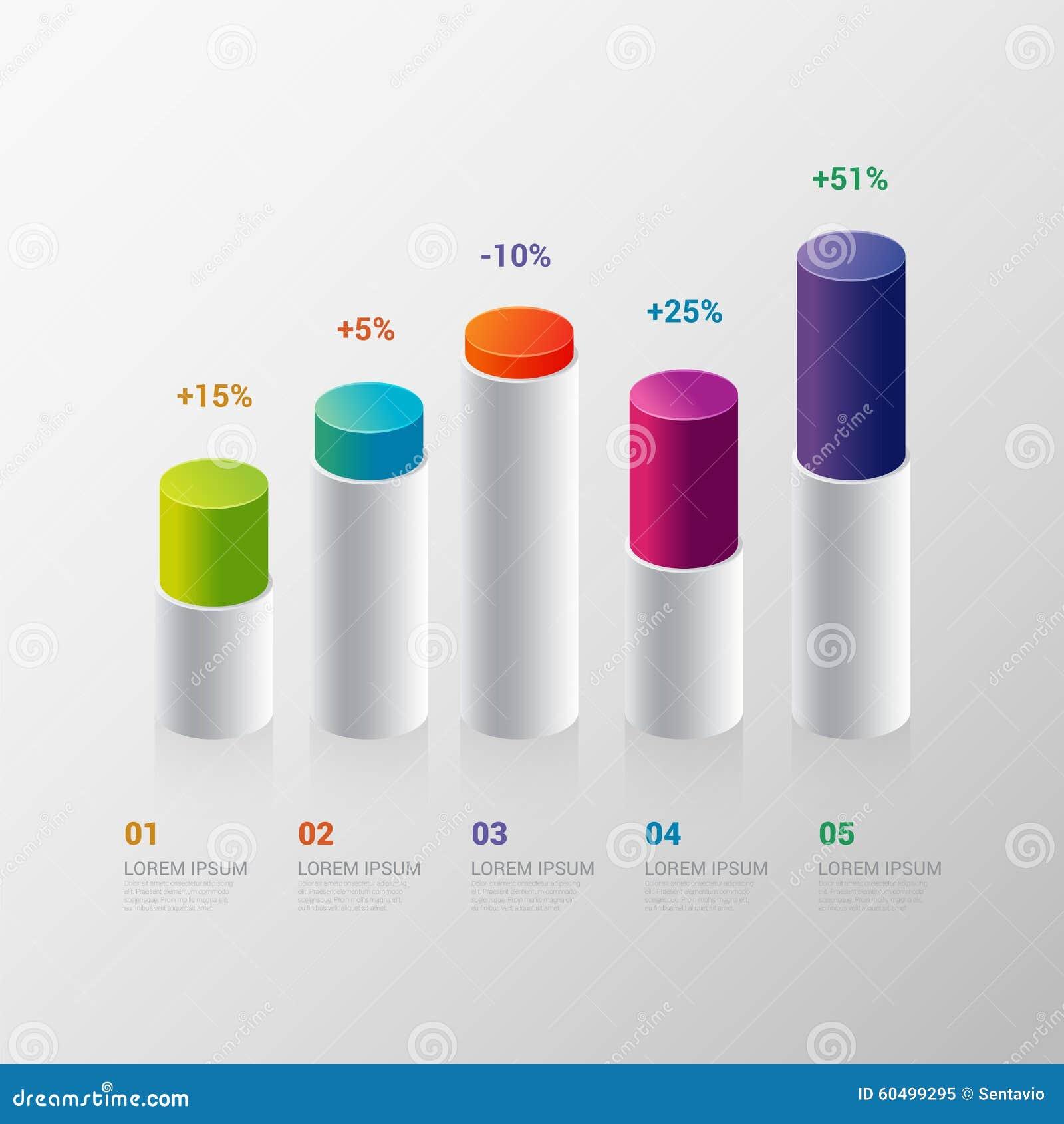 Infographic Template Indicator Bar Graph Chart Graphic – Graph Chart Templates