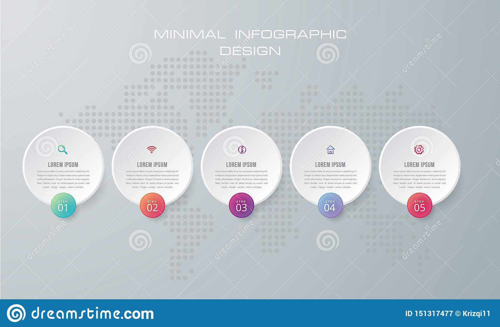 Infographic template with 4 options, workflow, process chart,Timeline infographics design vector and marketing icons can be used f