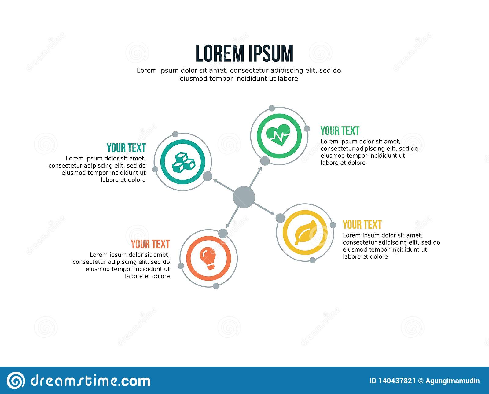 Infographic Template And Powerpoint Full Color Stock Vector