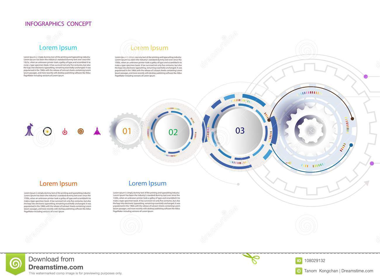 Infographic Template Timeline Technology Hi Tech Digital And Eng Diagram Of A Printer