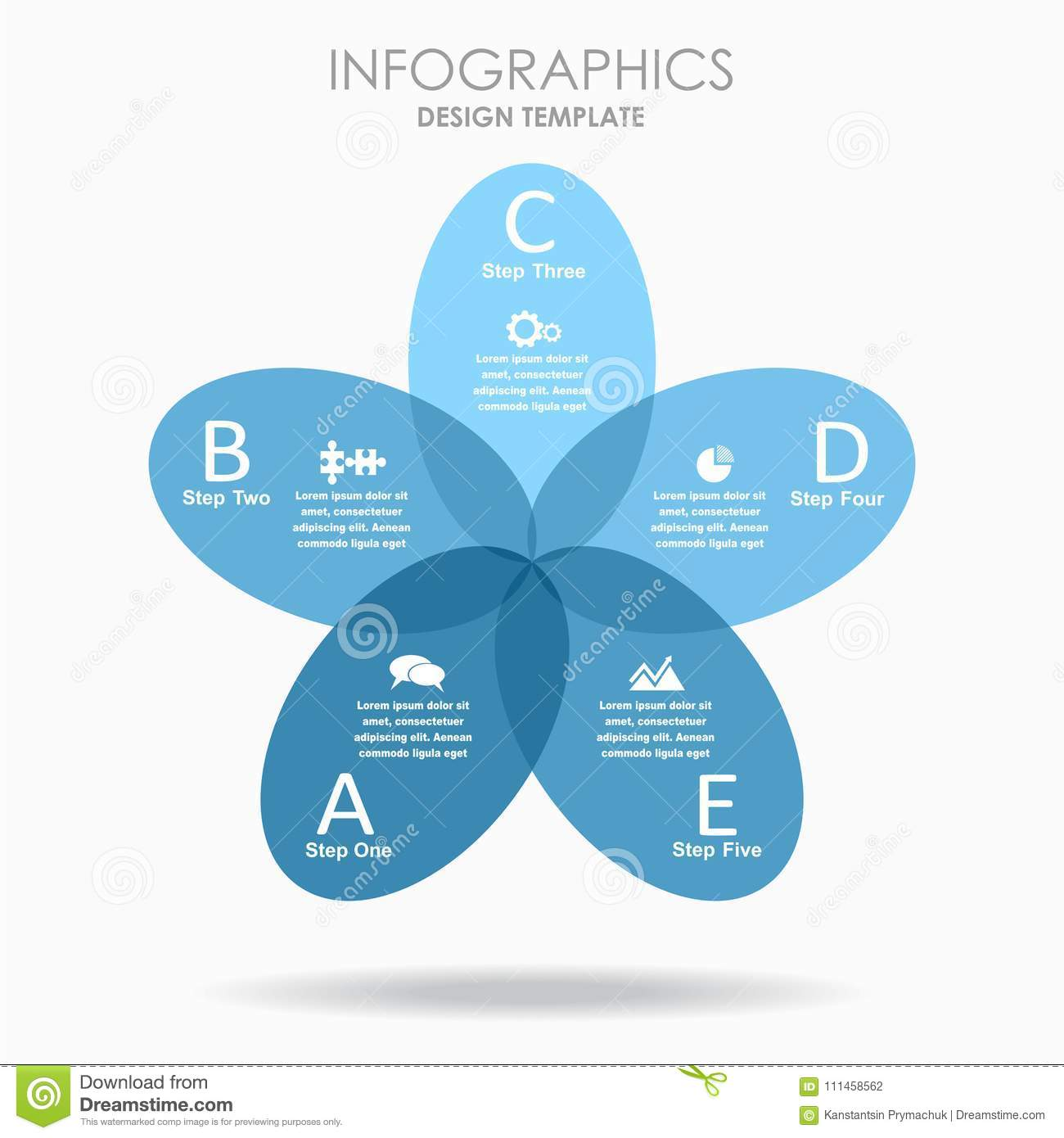 Infographic Template. Vector Illustration. Can Be Used For Workflow ...