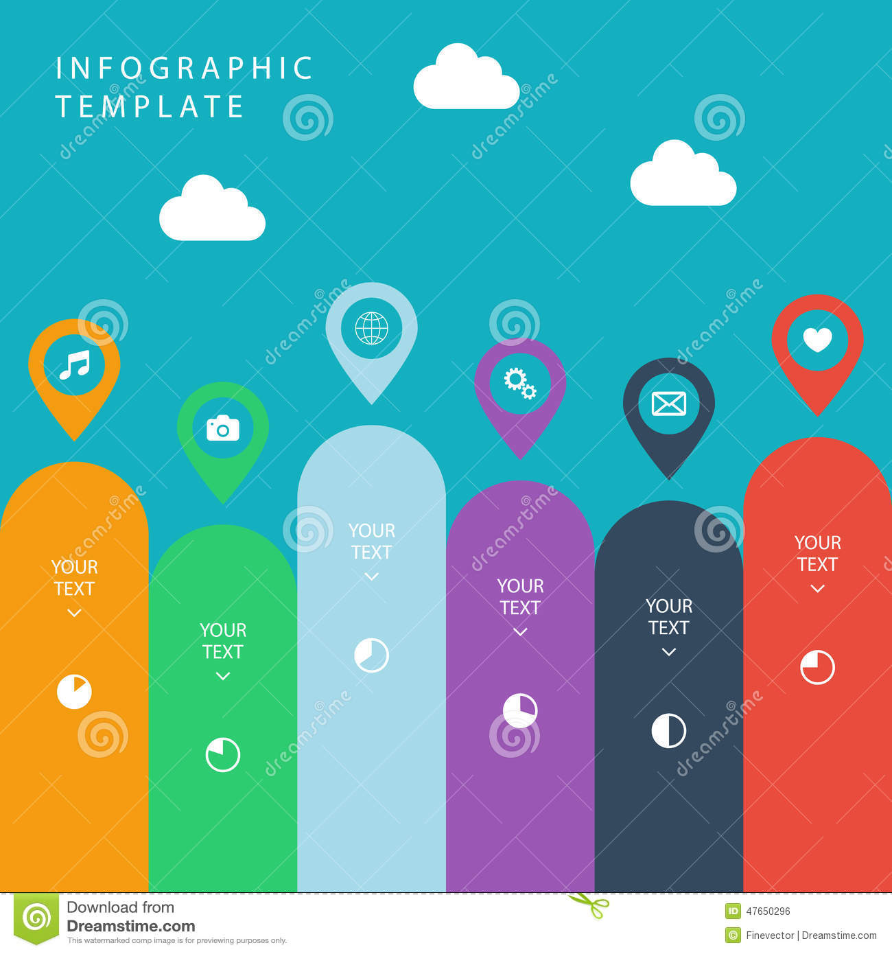 Infographic Template For Work Flow Layout  Diagram  Number