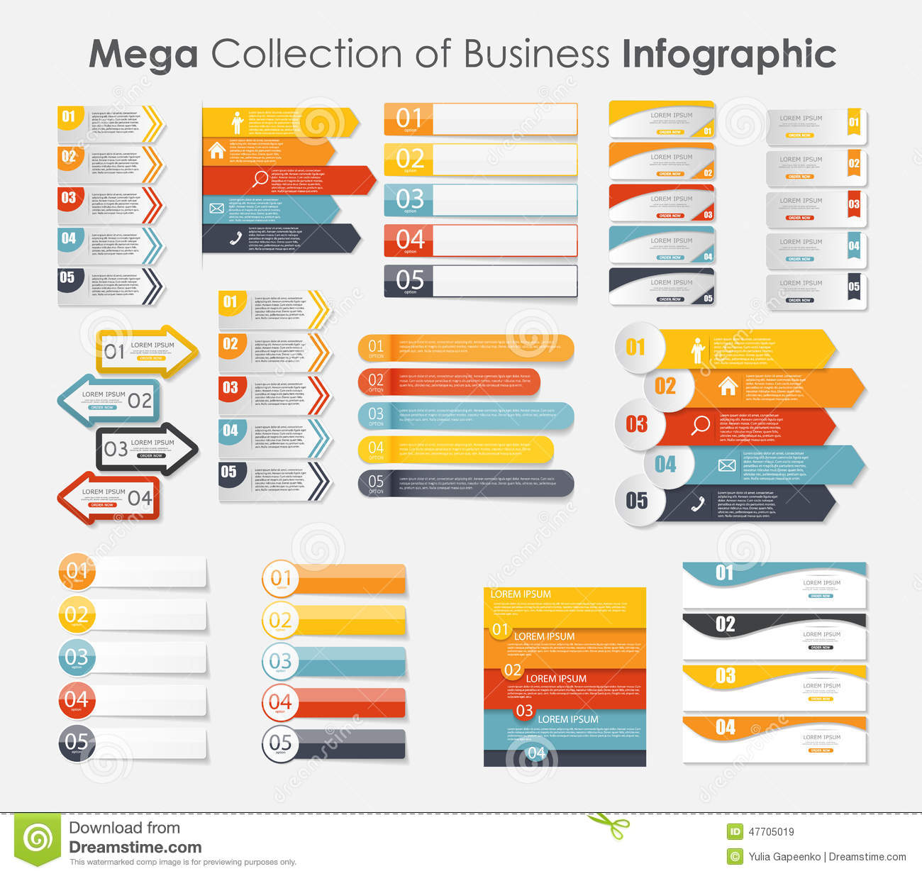 infographic templates for business vector stock vector image