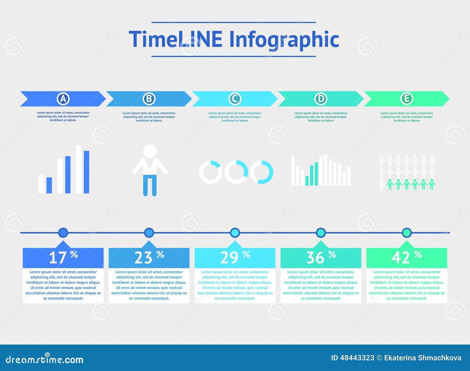 Infographic tijdlijn Vector illustratie