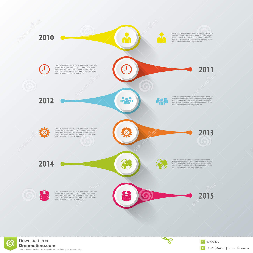 Infographic Timeline Design. Modern Template. Vector Stock Vector ...