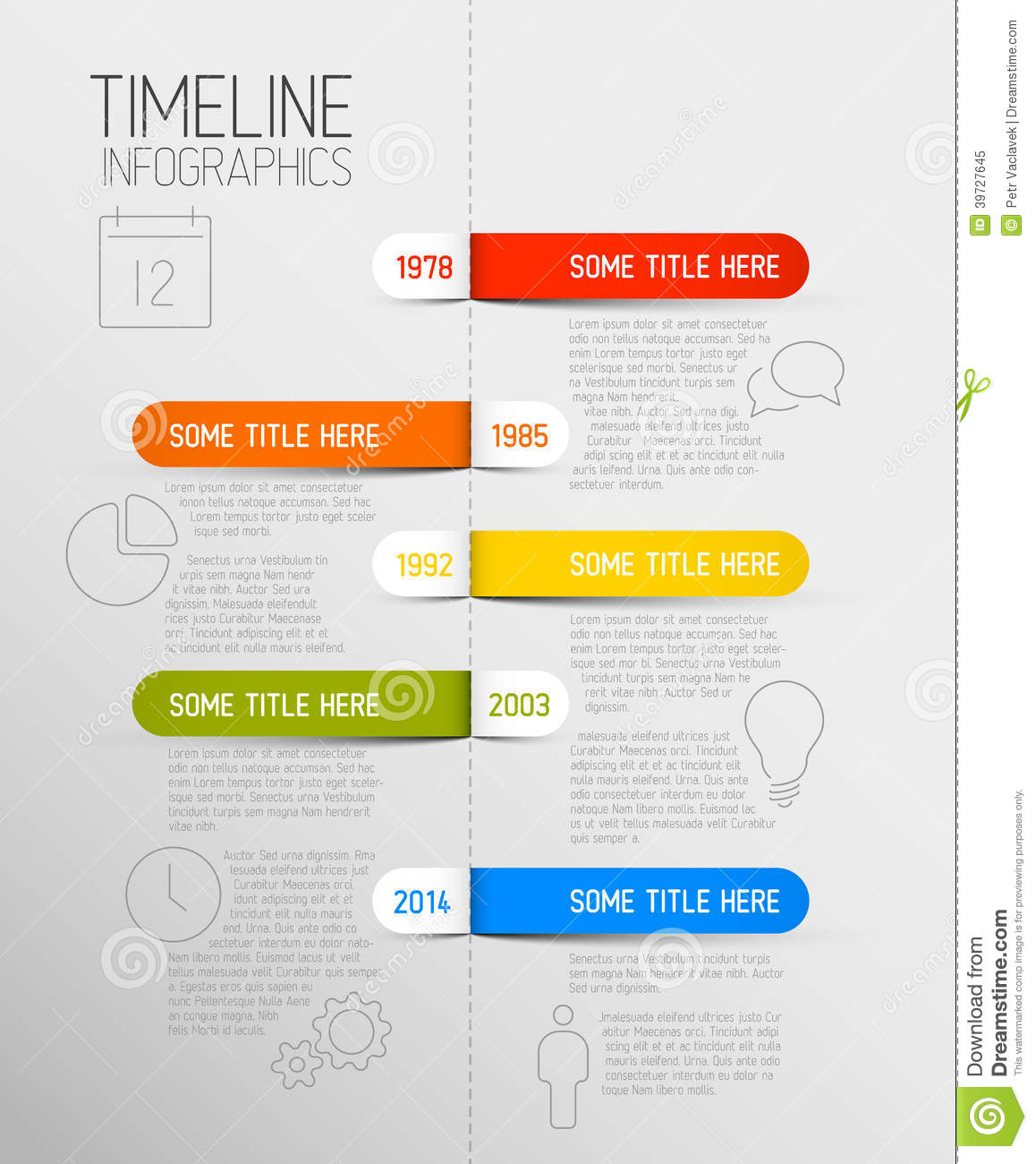 Infographic Timeline Report Template With Rounded Labels ...