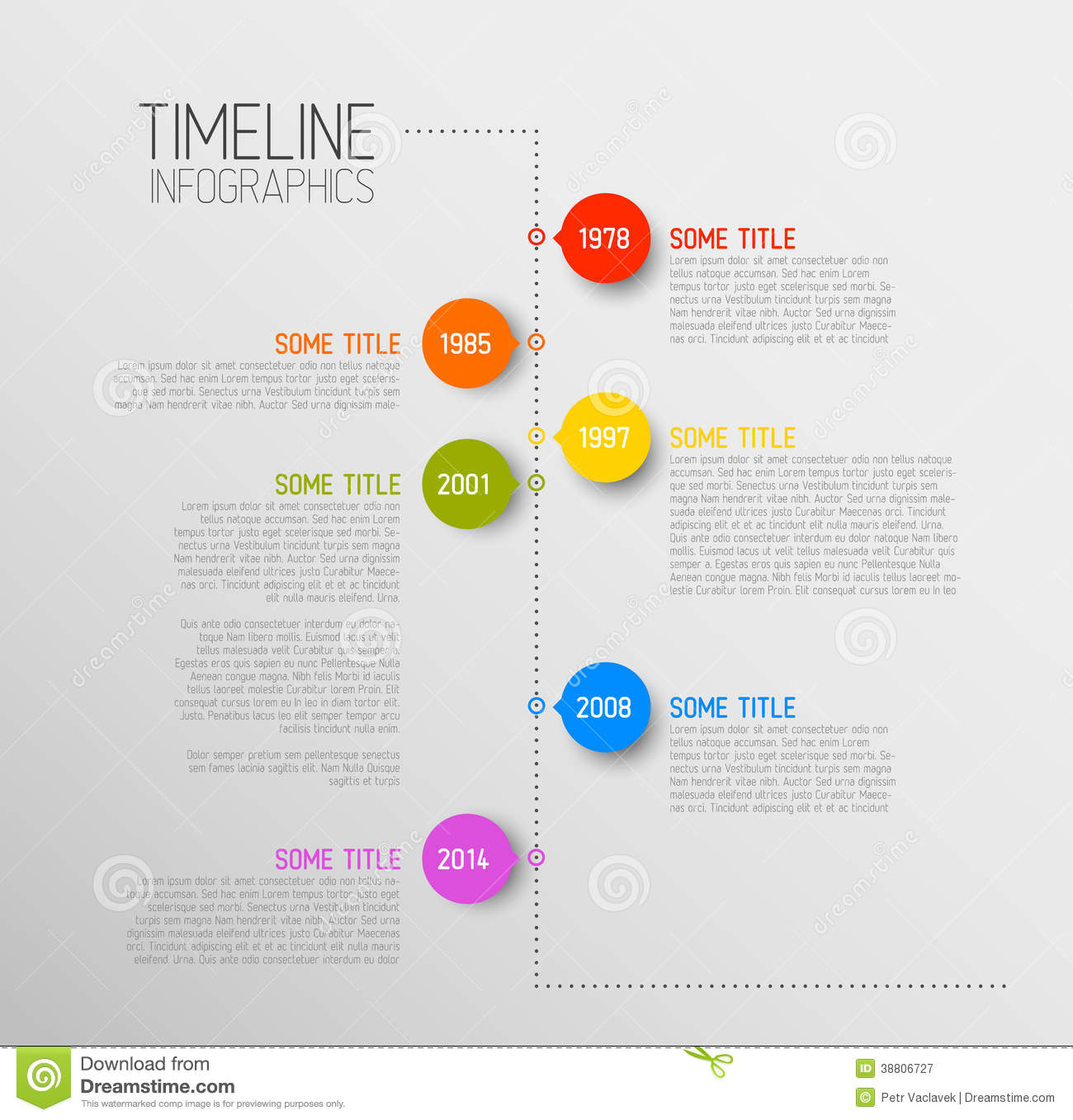 Infographic Timeline Report Template Stock Vector Illustration - Free timeline infographic template