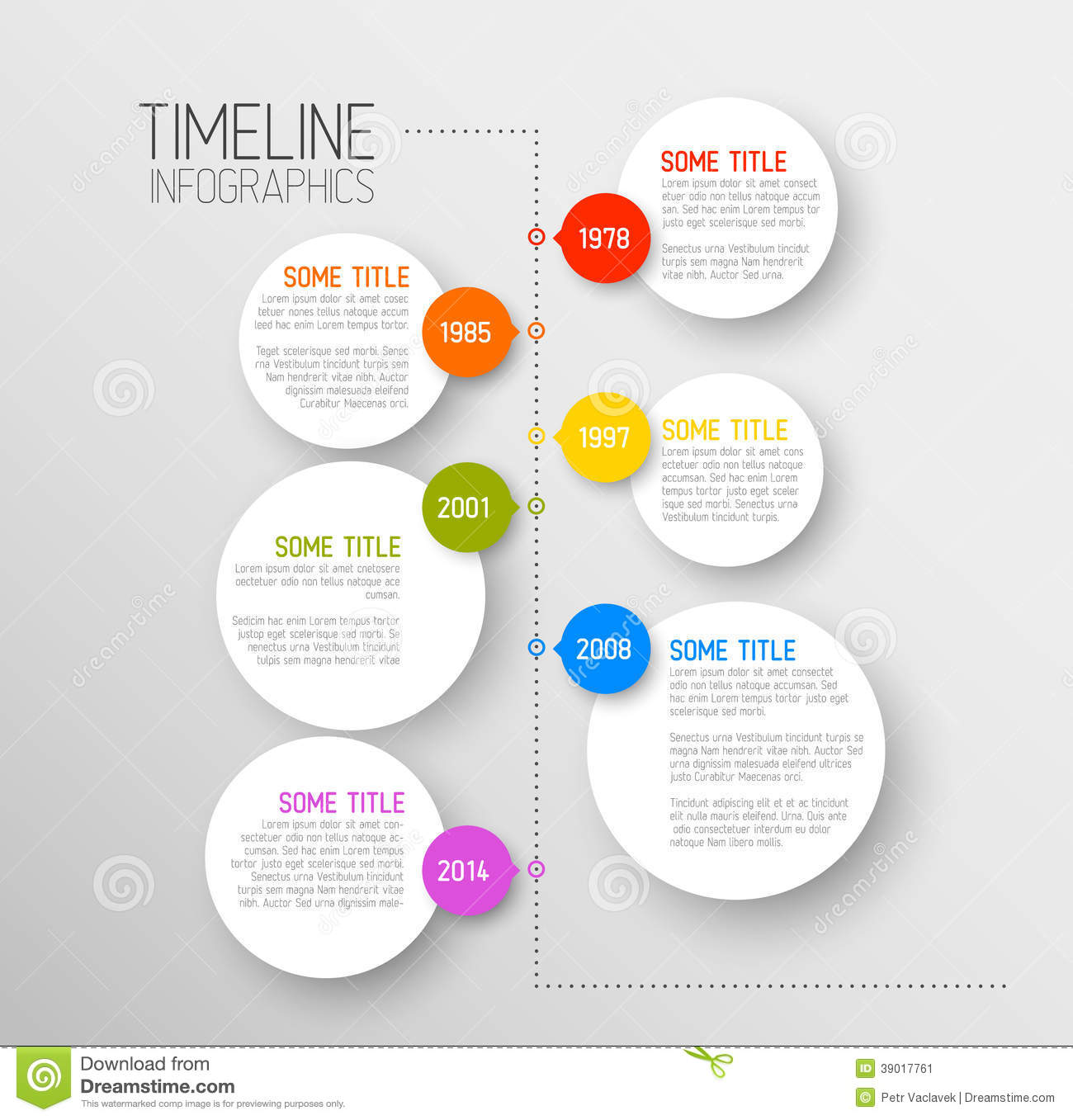 Infographic Timeline Report Template Stock Vector - Image: 39017761