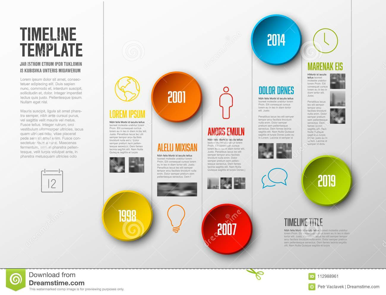 Infographic timelinemall
