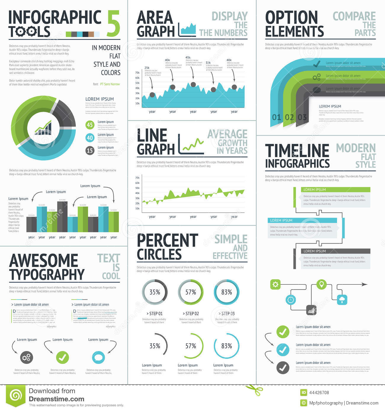 Infographic Tools And Elements To Create Vector ...