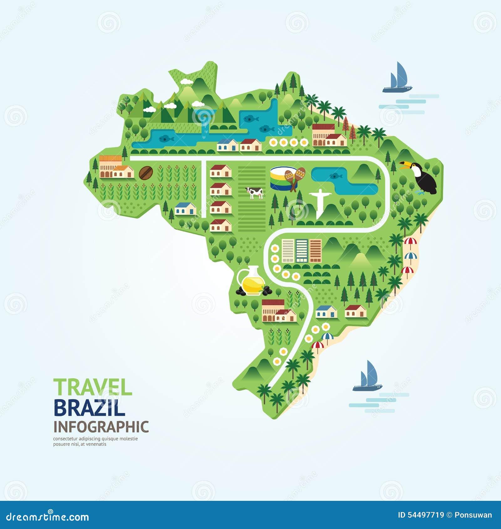 Infographic Travel And Landmark Argentina Map Shape Template Des - Argentina map shape