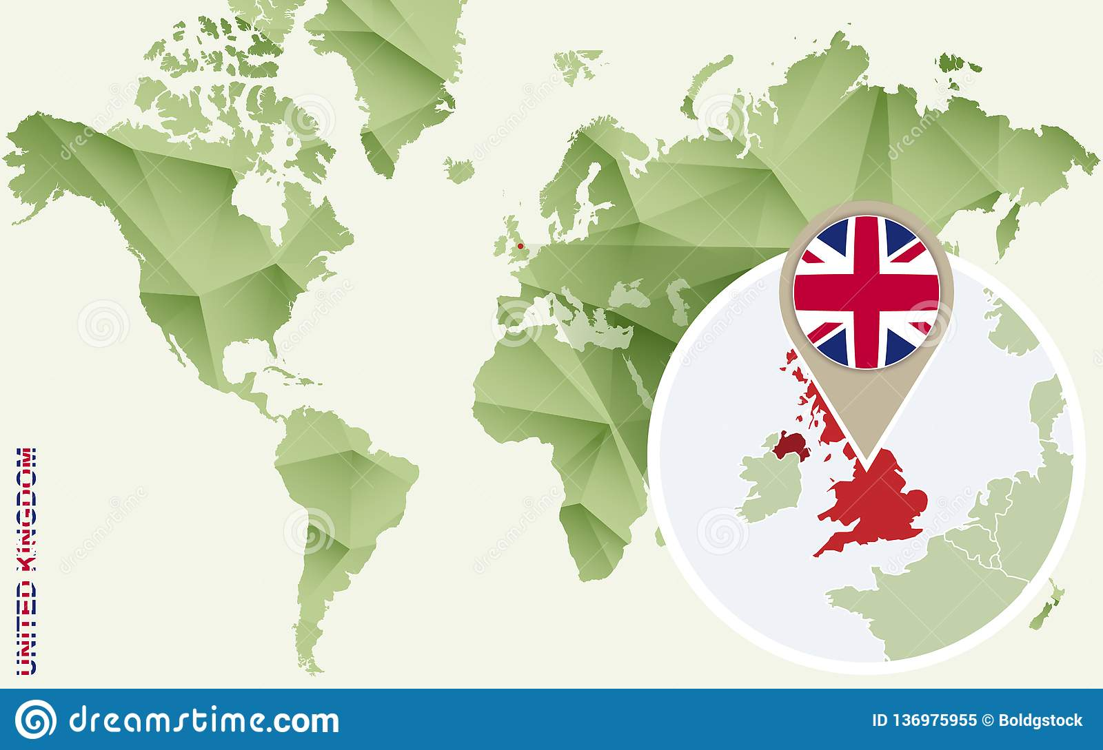 Map Of Uk Detailed.Infographic For United Kingdom Detailed Map Of Uk With Flag Stock