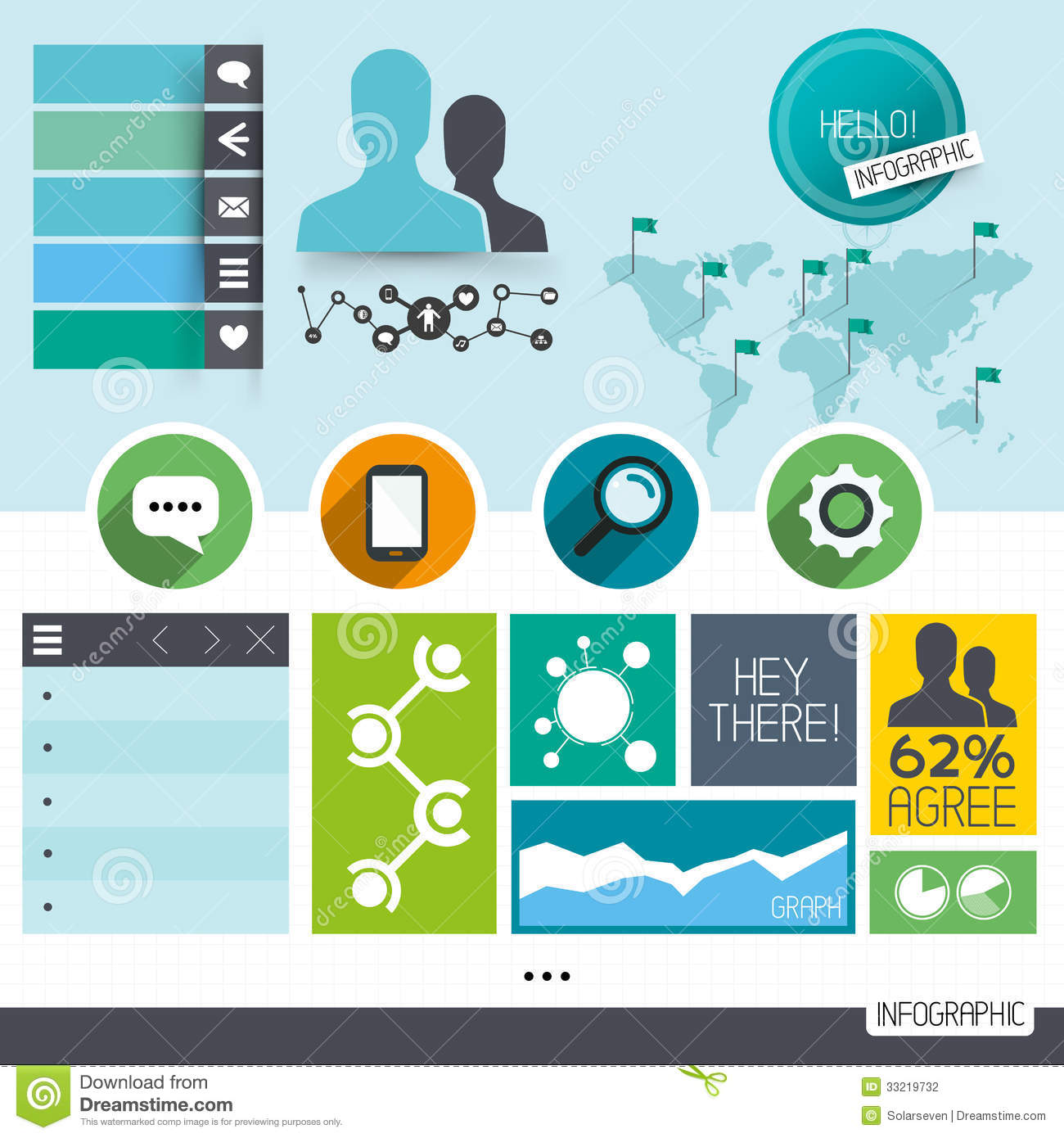 Infographic Vector Elements Stock Photography - Image: 33219732