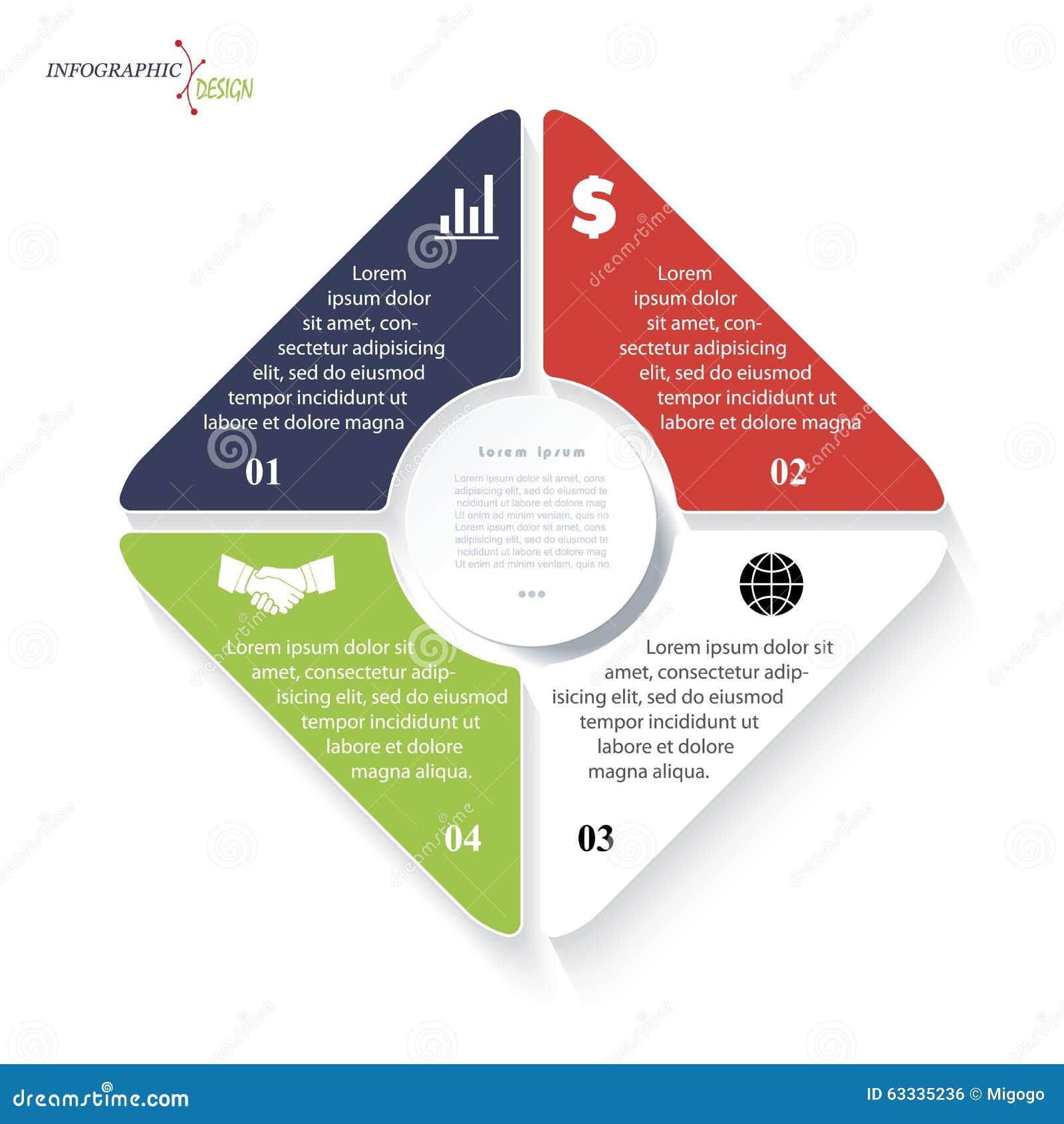 Infographic voor bedrijfsproject of presentatie
