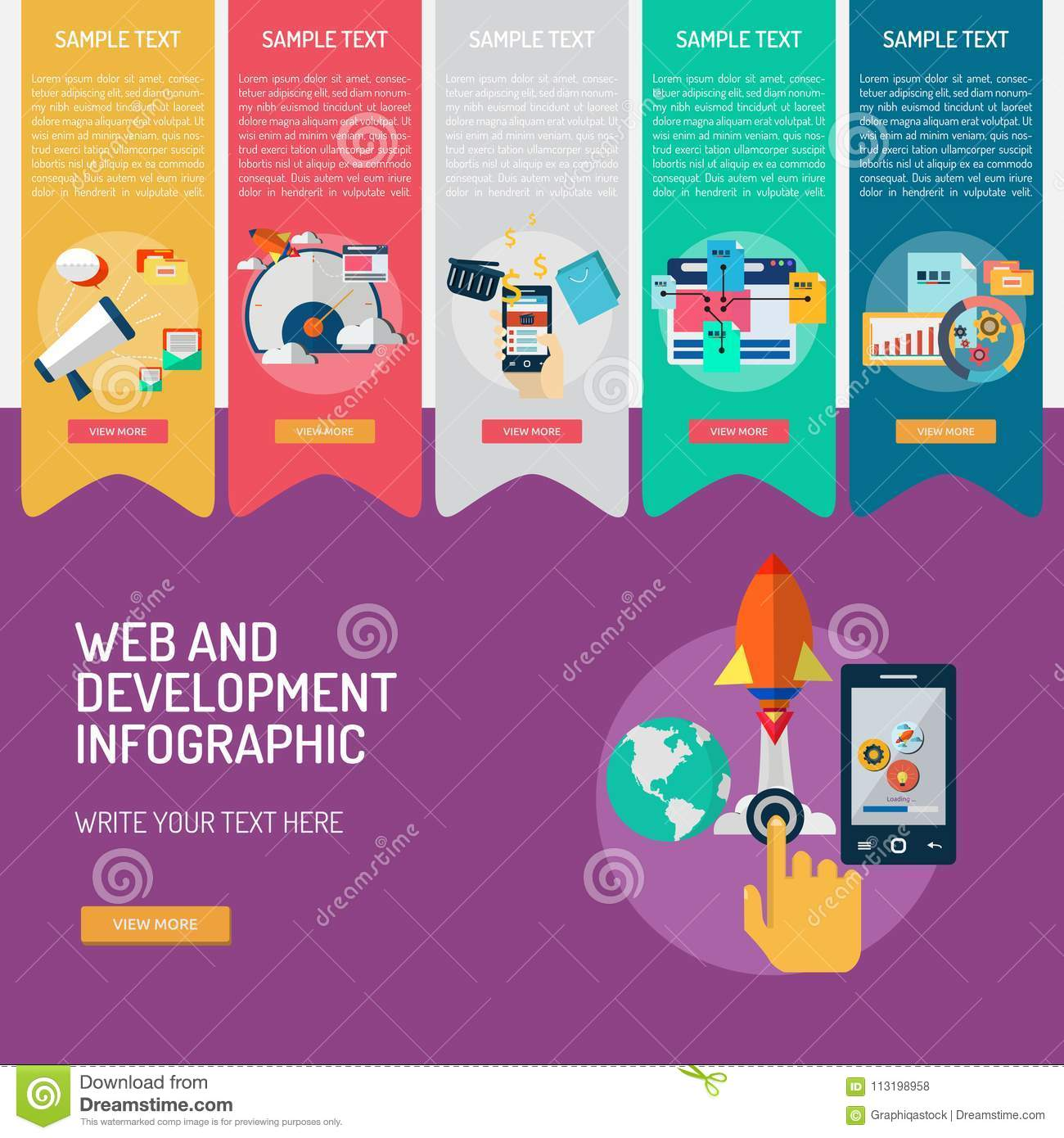 Web and Development Infographic Complex