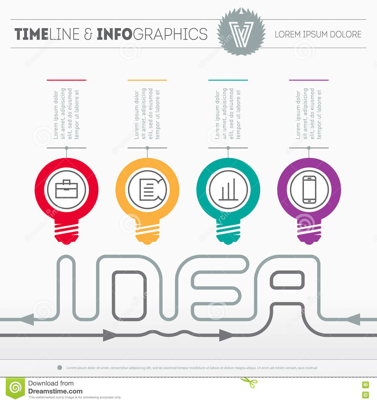 infographic web template with icons and design elements on light
