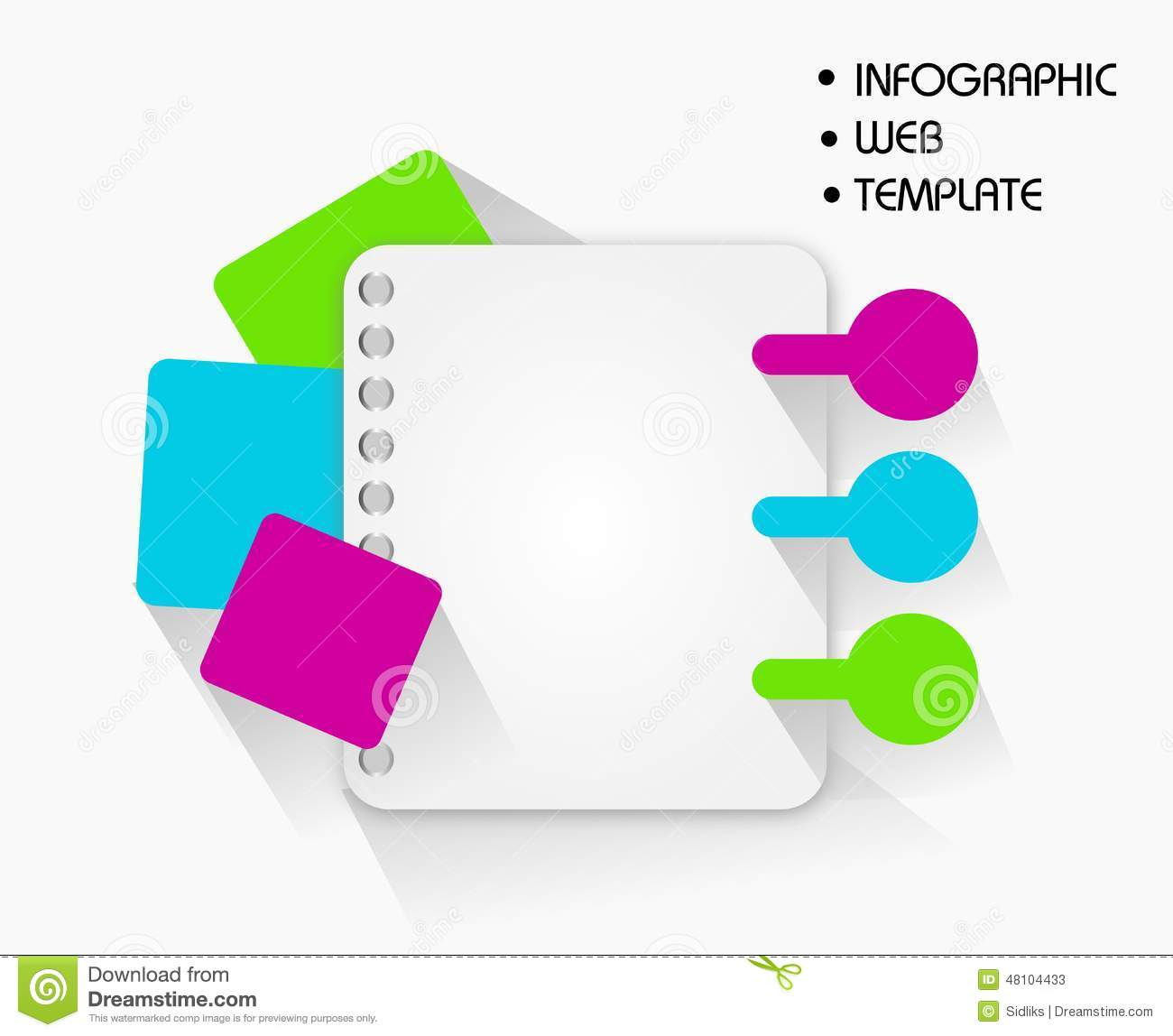 infographic web template stock illustration. illustration of