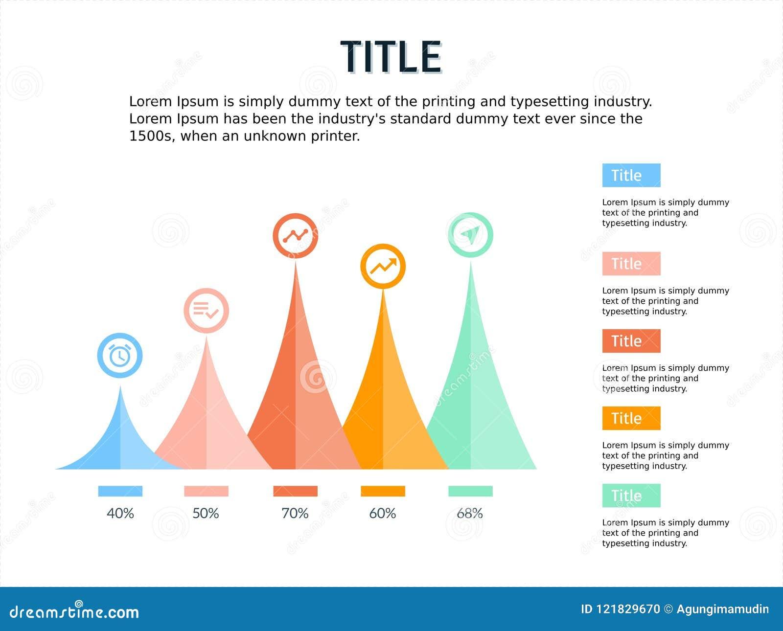 Infographic Y La Plantilla Del Ppt Diseñan Cuatro Pasos Con Tema De ...