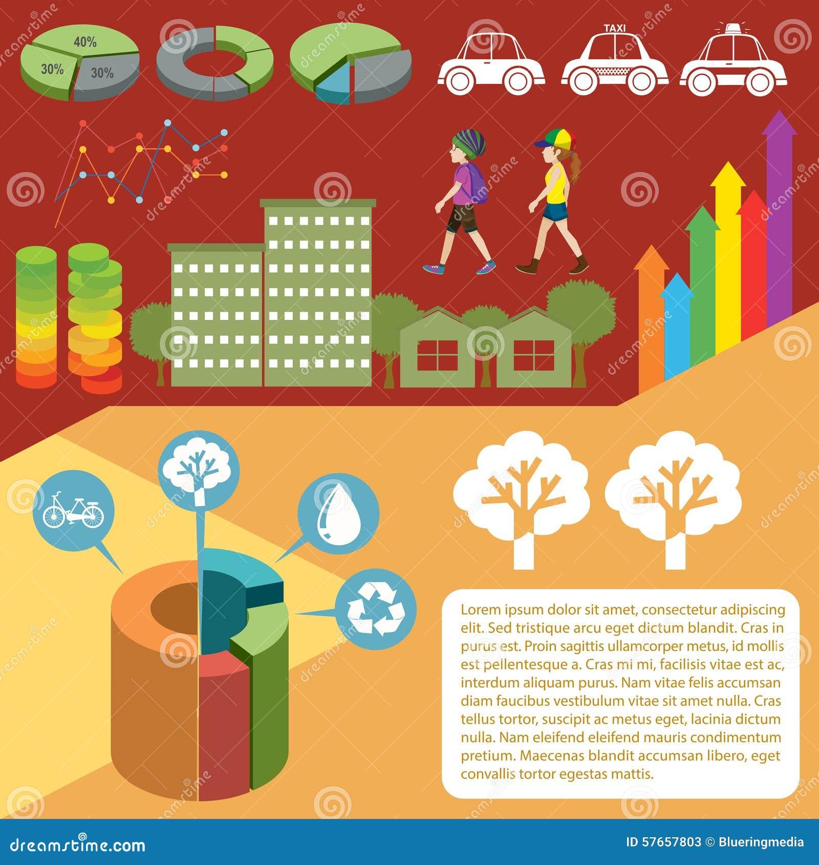 Infographic z wykresami i ludźmi