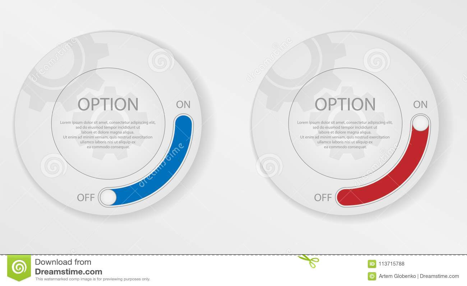 Infographicelementen, cirkel met opties