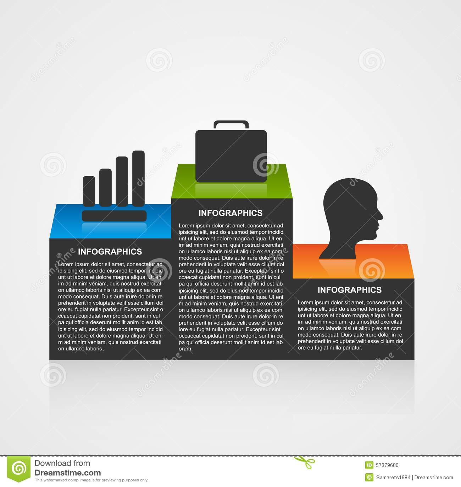 Infographicmalplaatje met olympisch podium