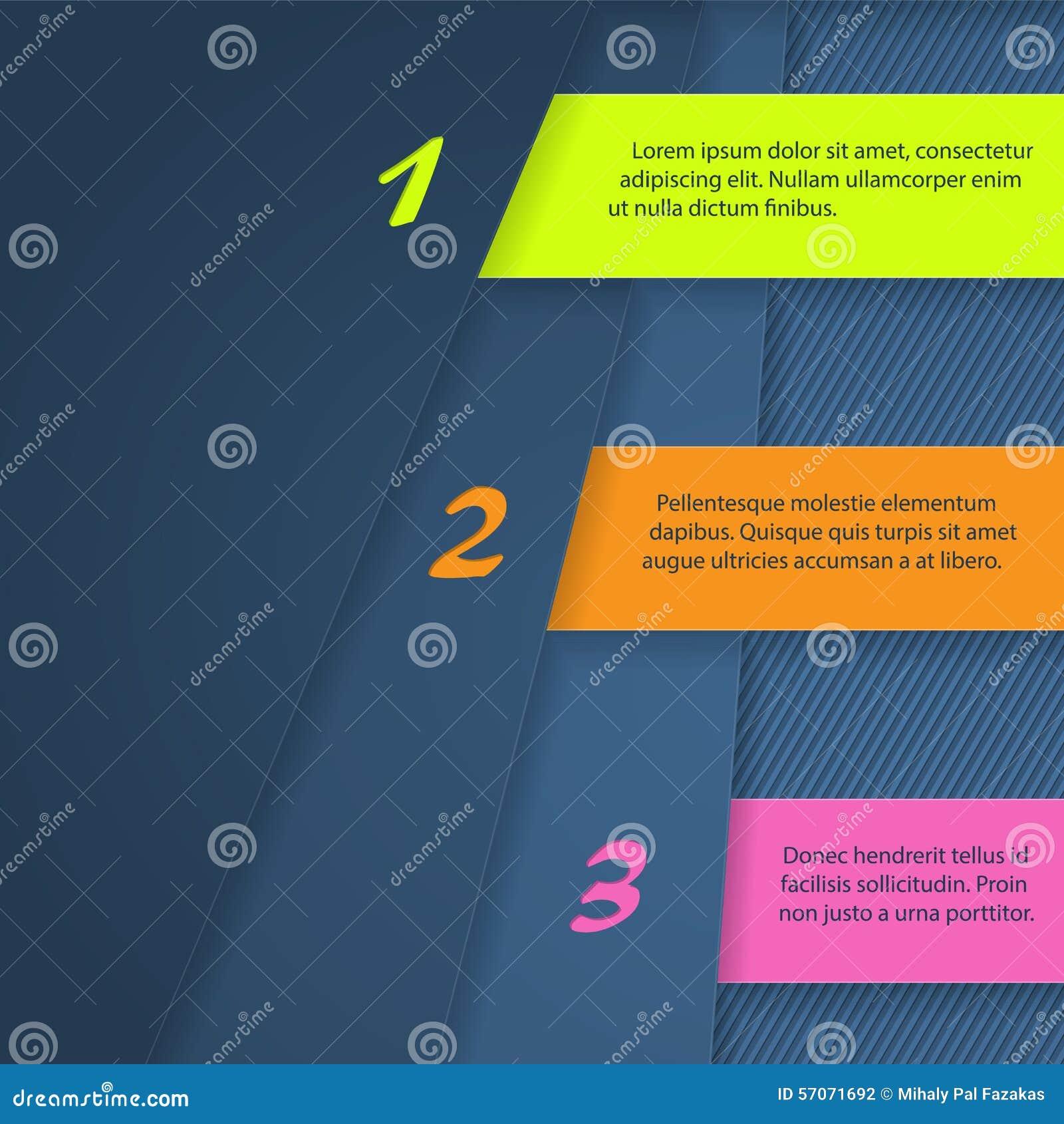 Infographicontwerp met heldere kleurenetiketten
