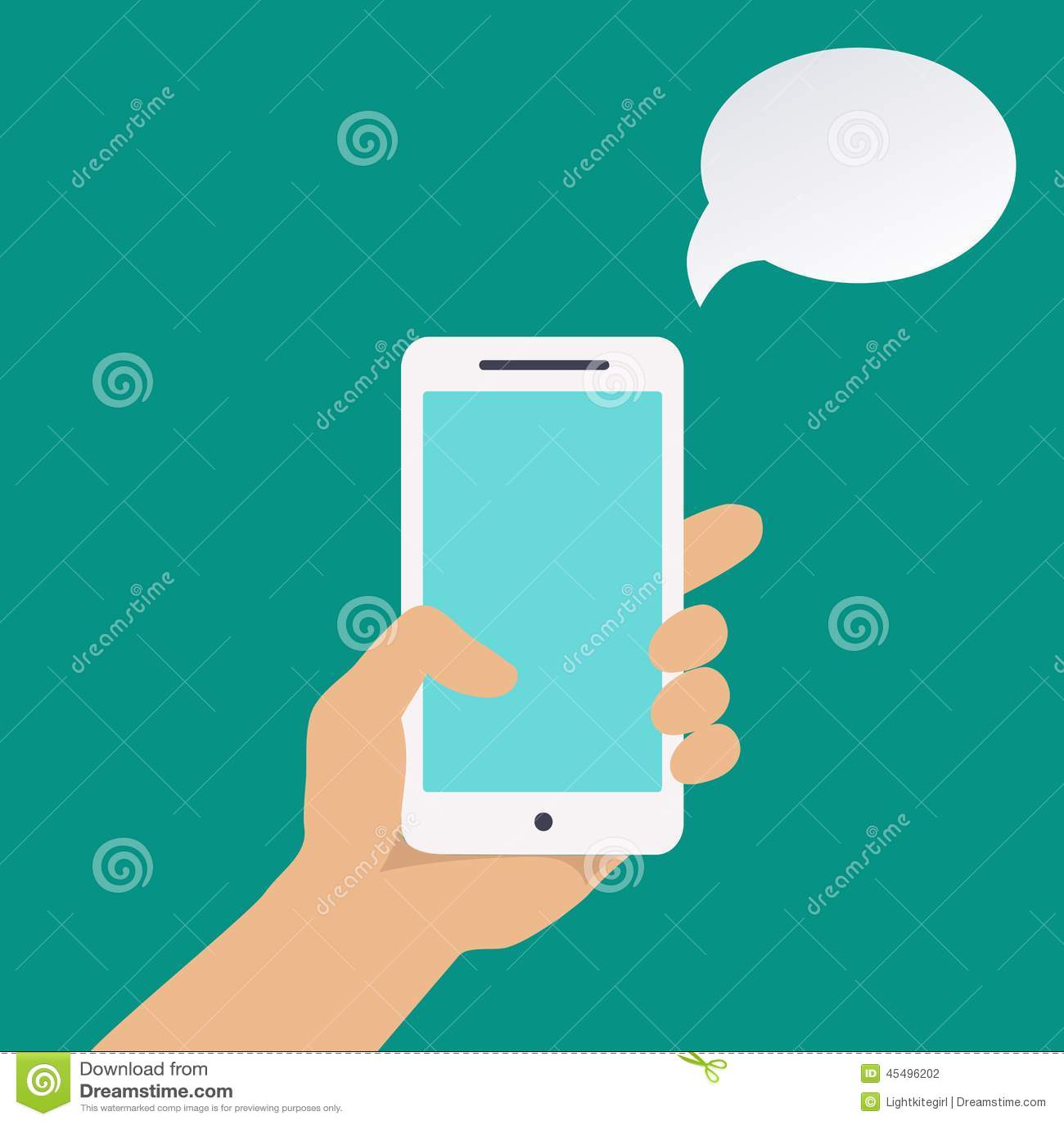 Infographics用拿着智能手机的手