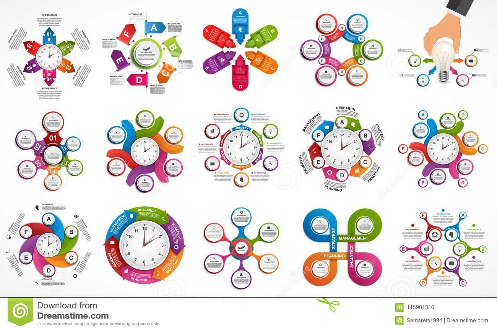 Infographics συλλογής στοιχεία τέσσερα σχεδίου ανασκόπησης snowflakes λευκό Infographics για το έμβλημα επιχειρησιακών παρουσιάσε