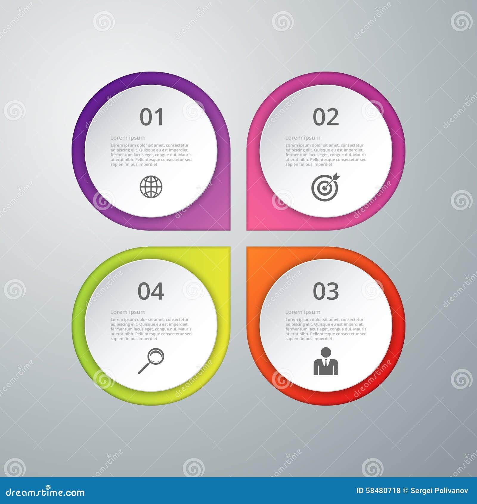 Infographics иллюстрации вектора 4 варианта