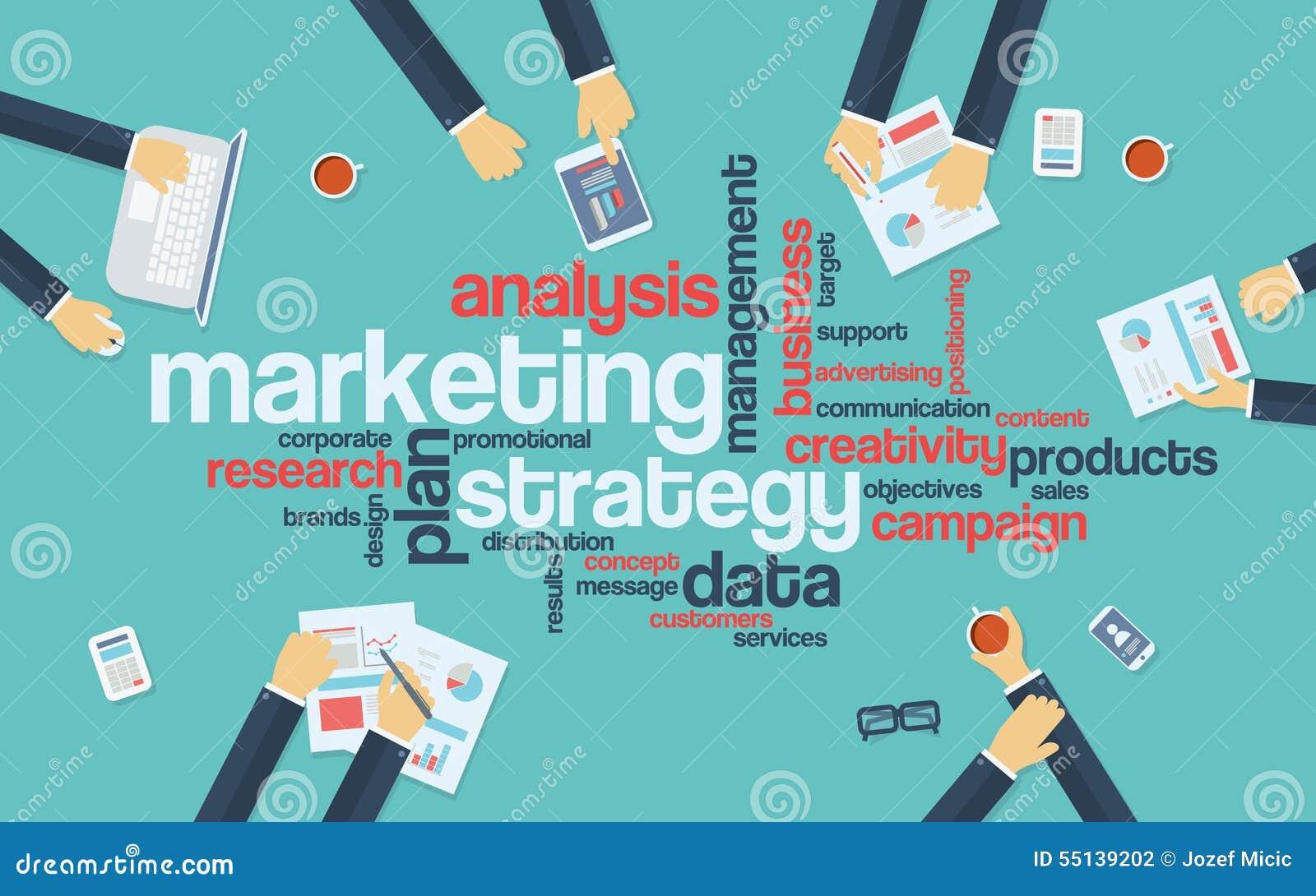 Infographics концепции маркетинговой стратегии Слово