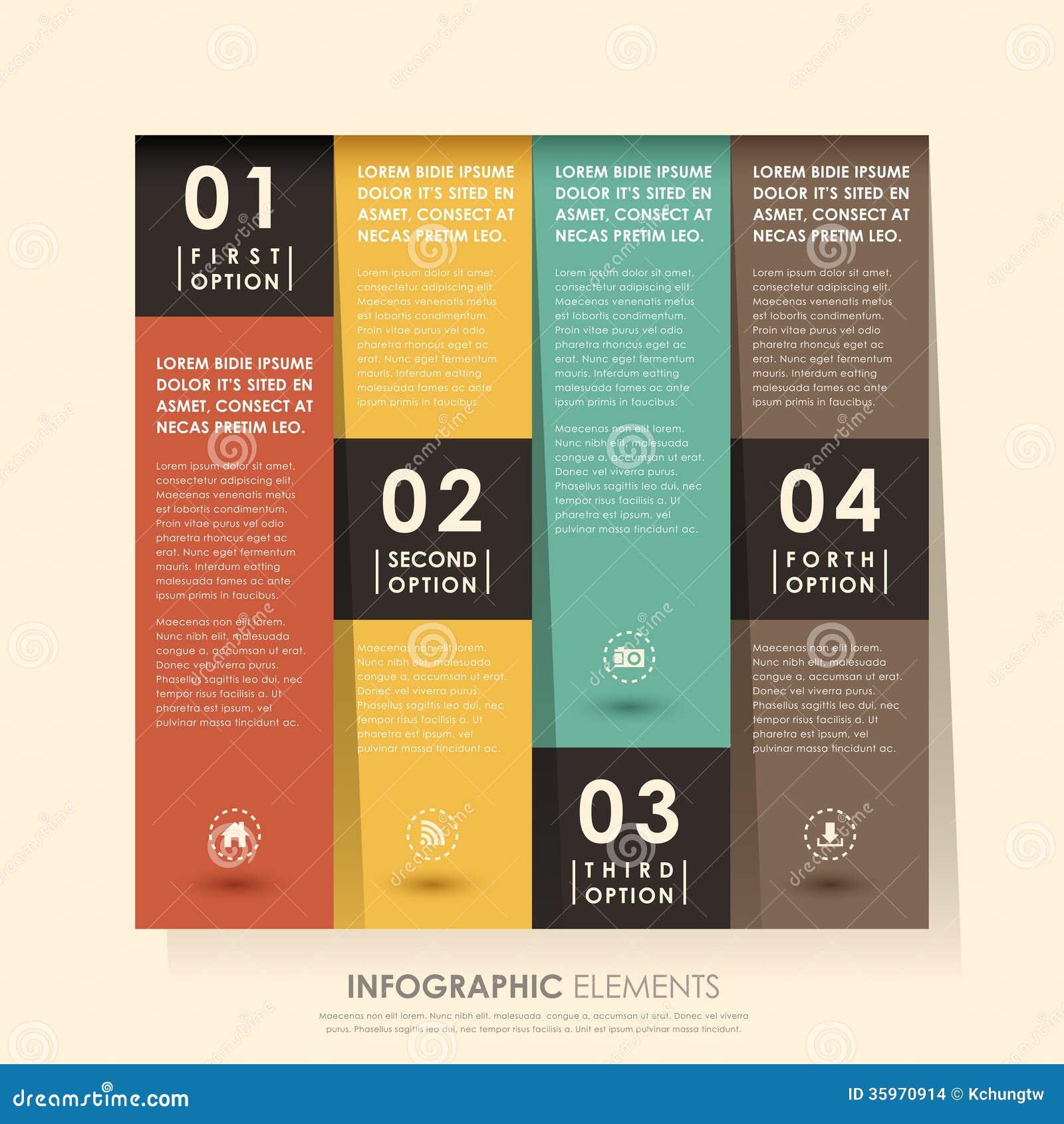 Infographics abstracto de la bandera