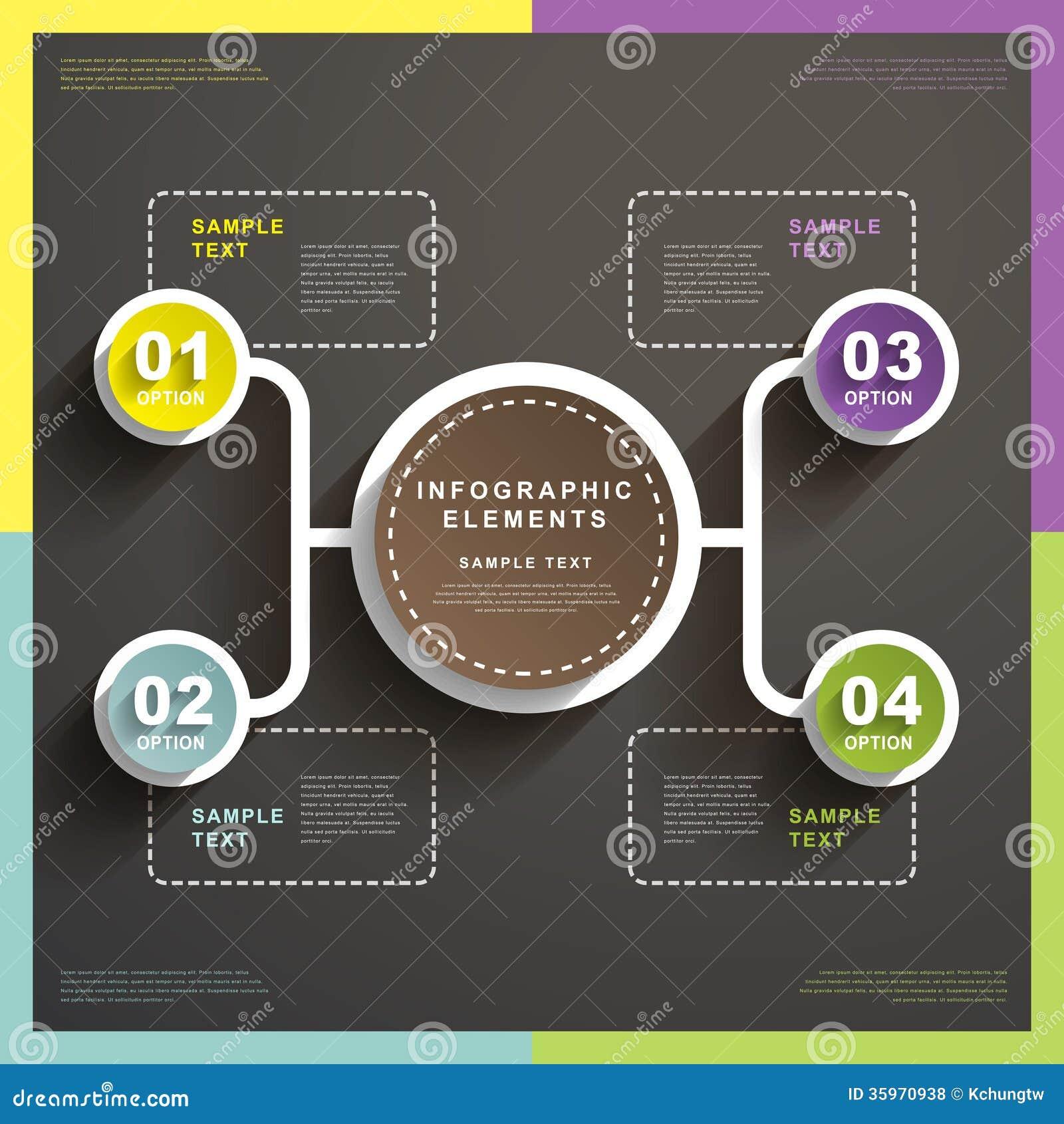 Infographics abstracto de la carta