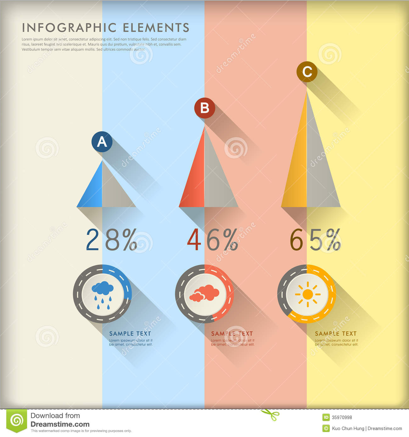 Infographics abstracto de la carta