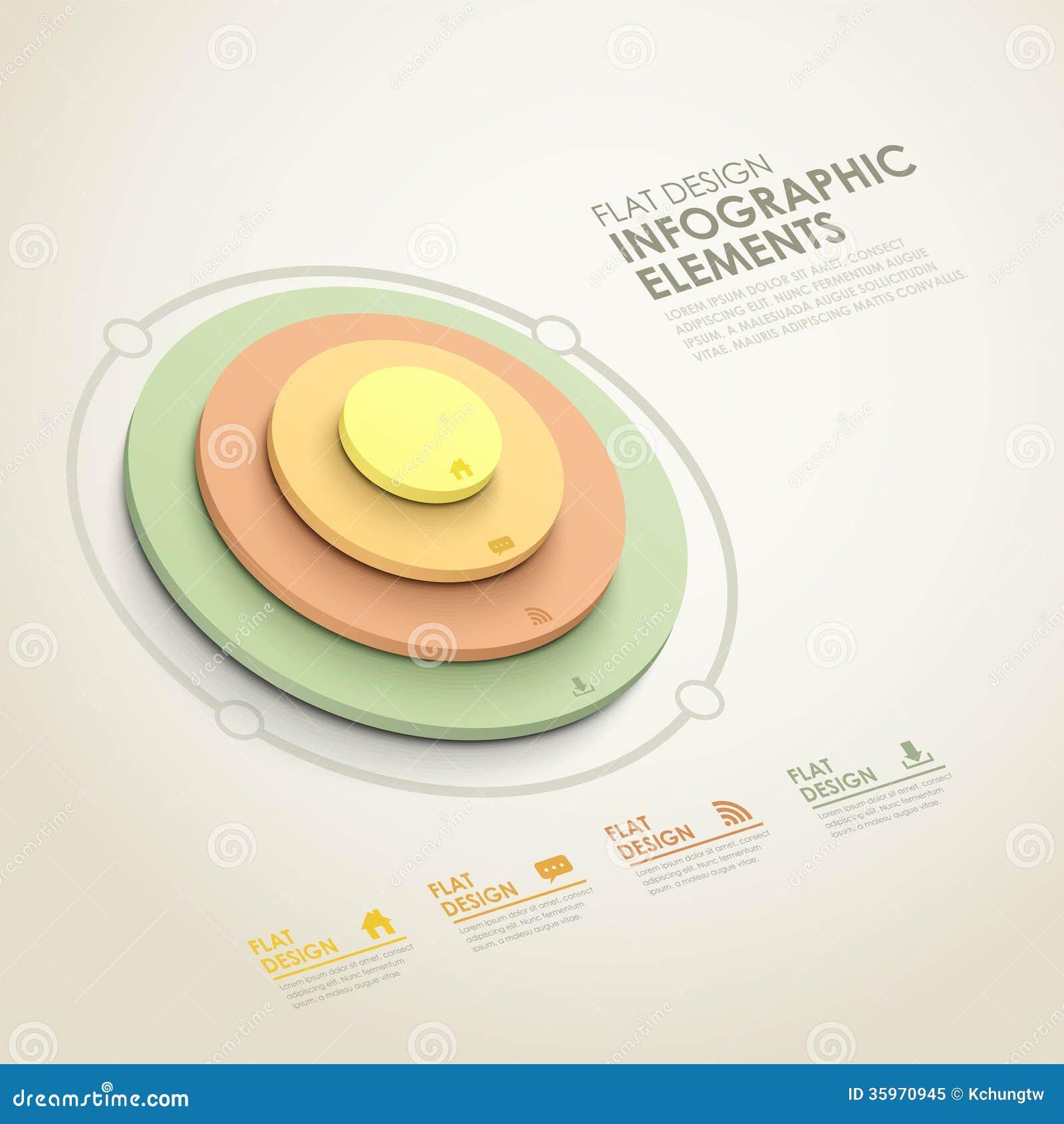 Infographics abstracto de la torre del círculo