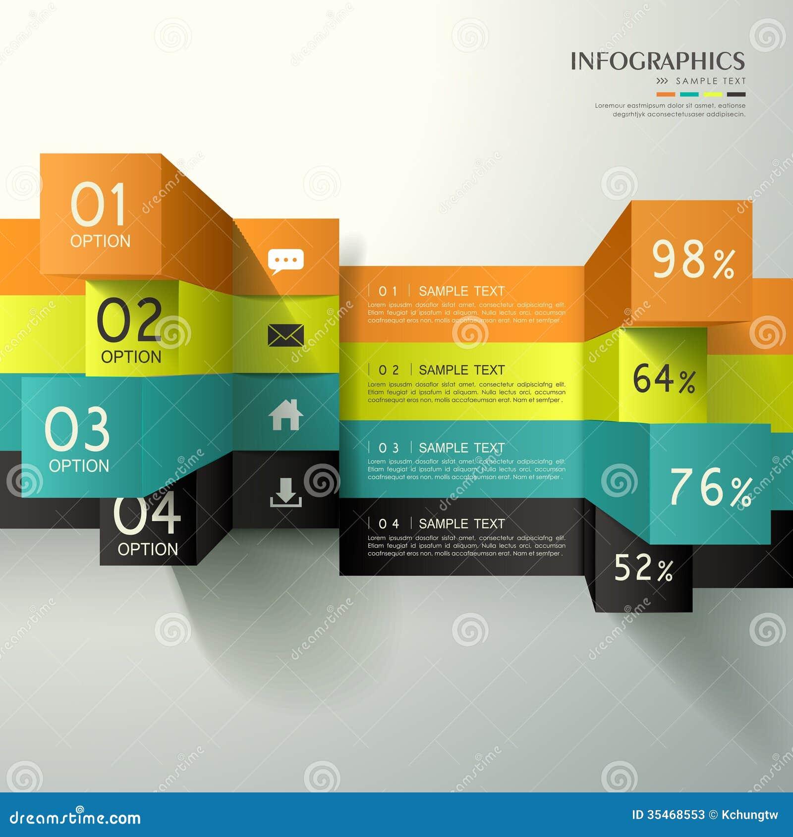 Infographics abstracto del cubo 3d