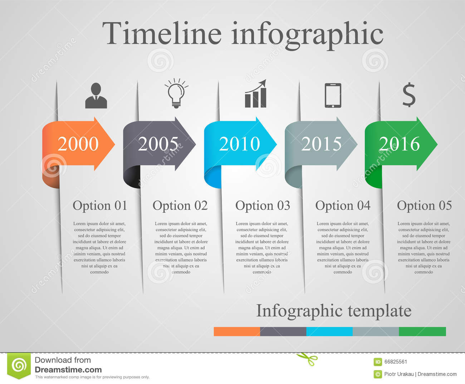 infographics arrow timeline template stock vector illustration 66825561. Black Bedroom Furniture Sets. Home Design Ideas