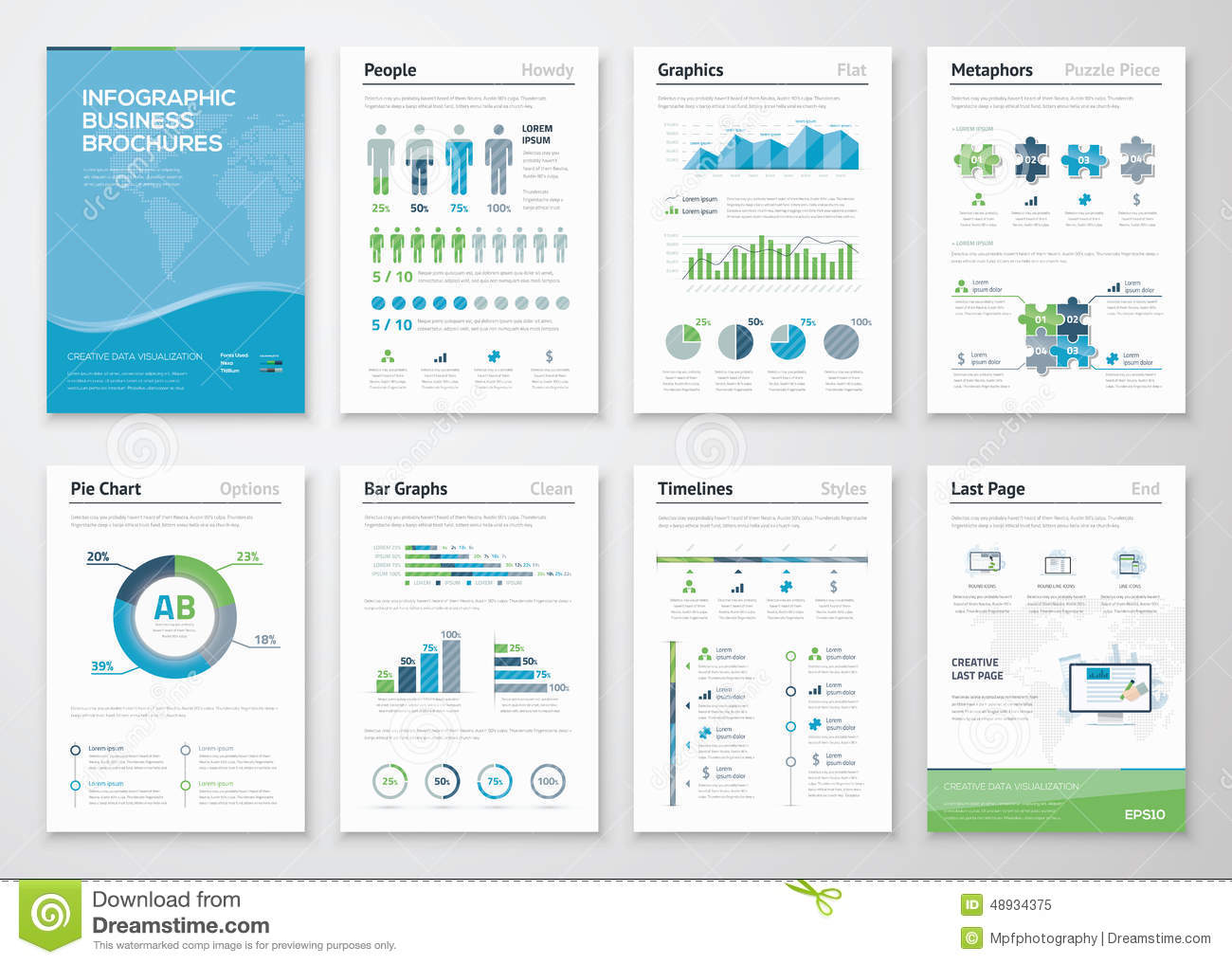 Infographics Brochure Elements For Business Data ...