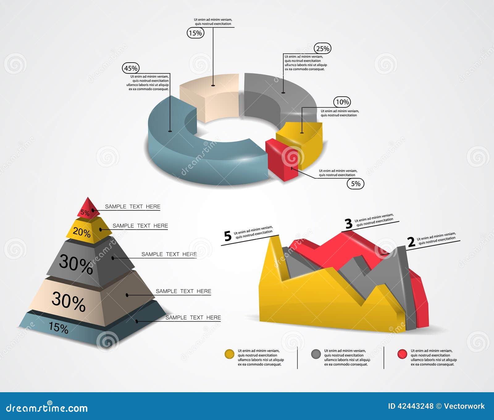 Infographics colorido 3d
