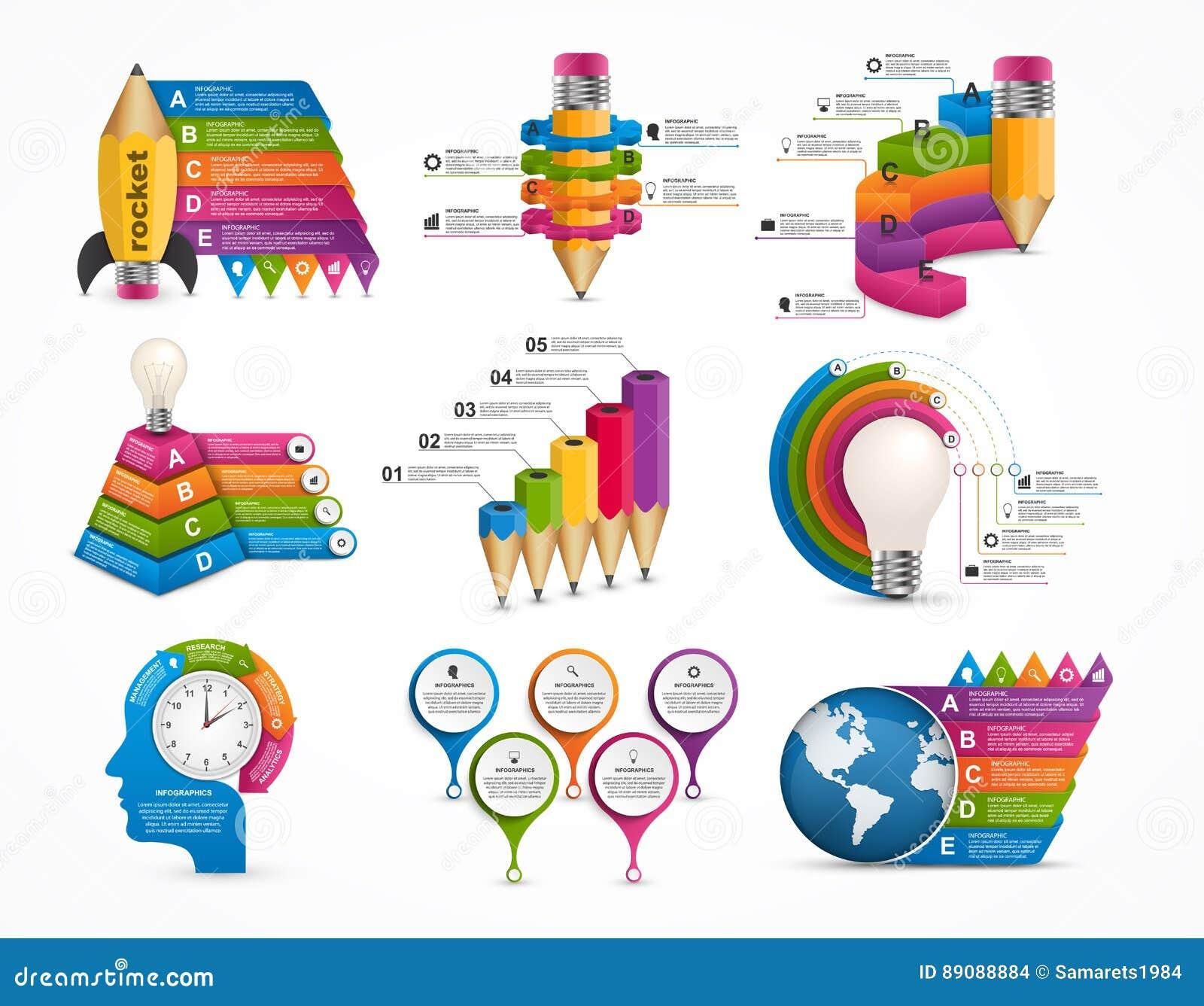 Infographics de la colección Elementos del diseño