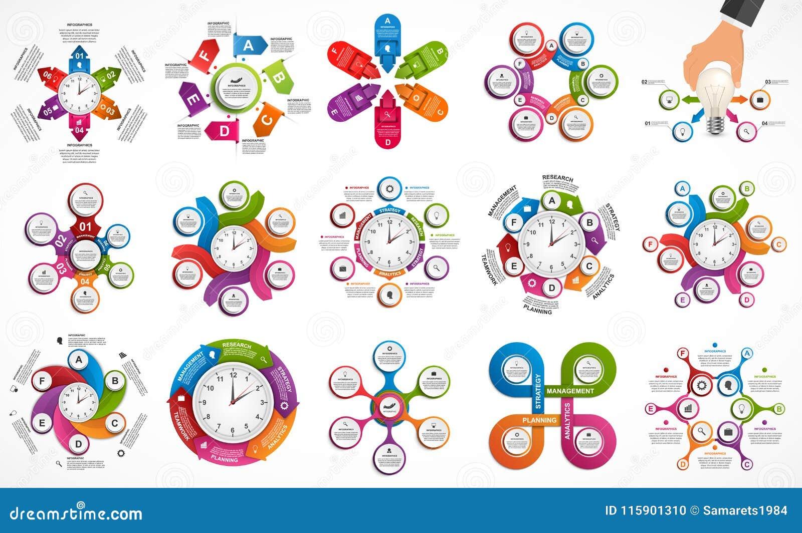 Infographics de la colección Elementos del diseño Infographics para la bandera de las presentaciones o de la información del nego
