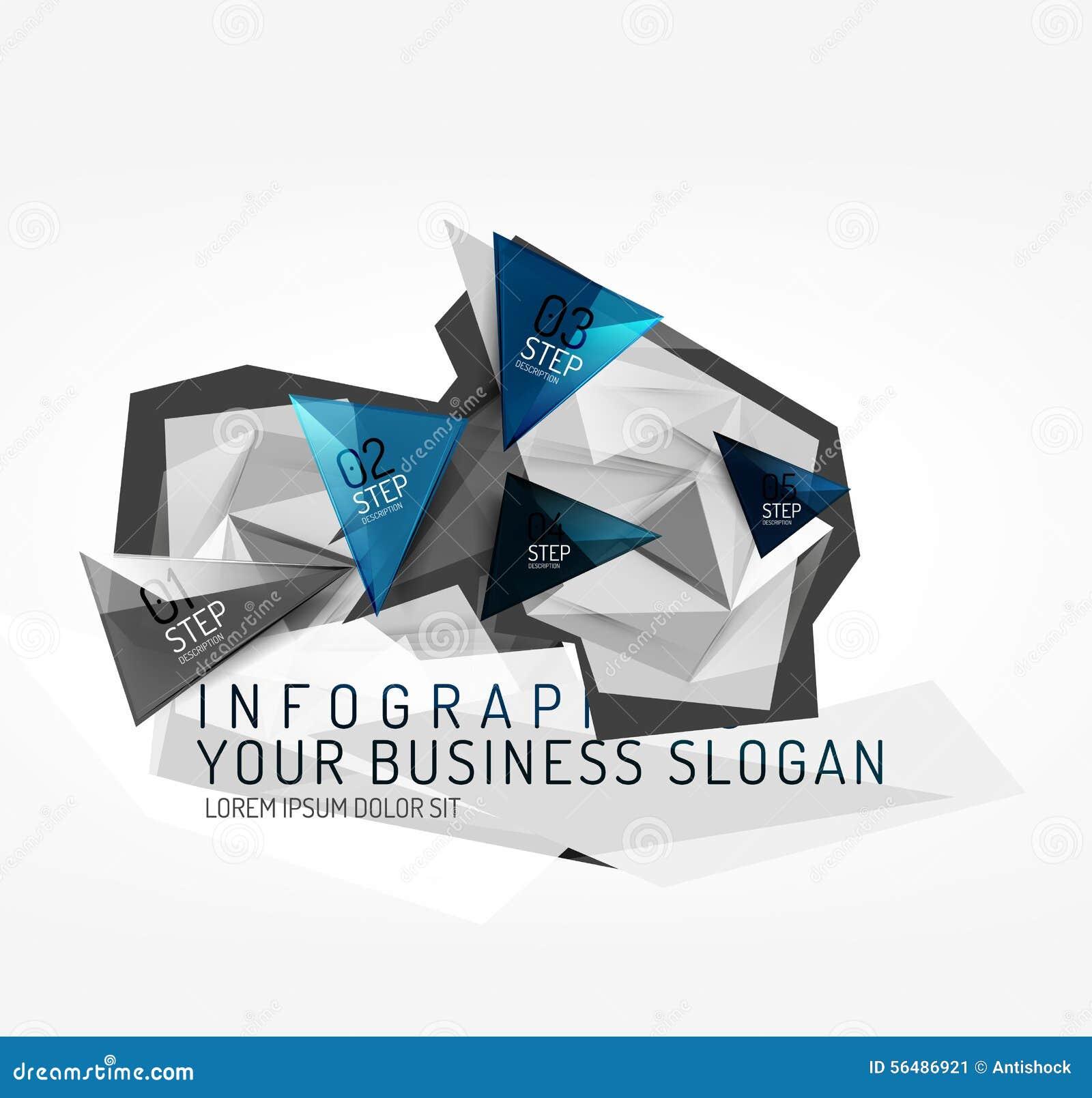 Infographics de papier d origami polygonal moderne