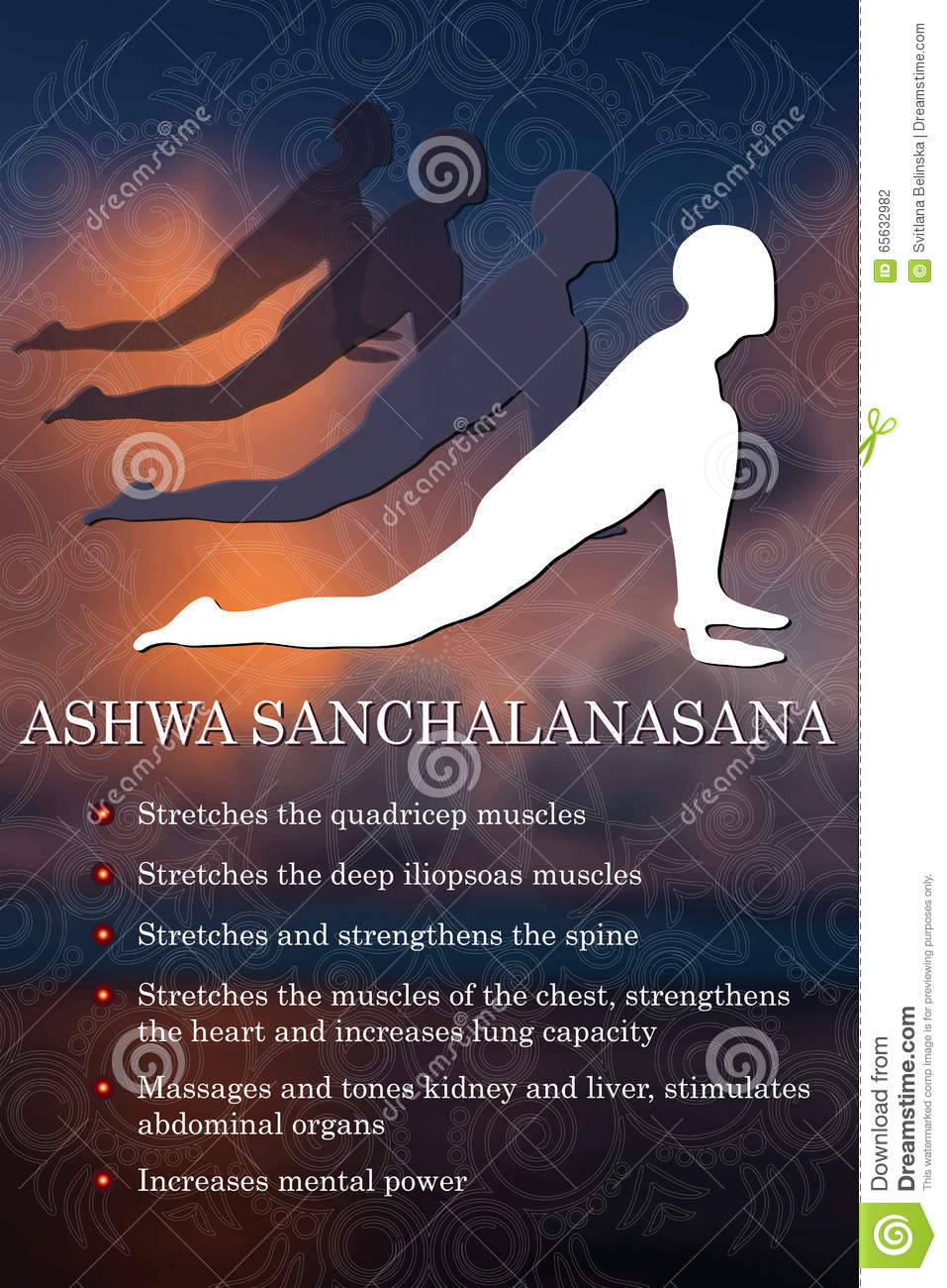 Infographics de pose de yoga, avantages de la pratique