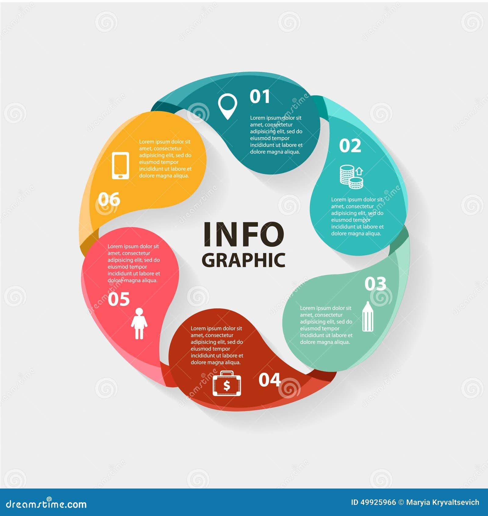 Infographics Del C U00edrculo Del Vector Plantilla Para El