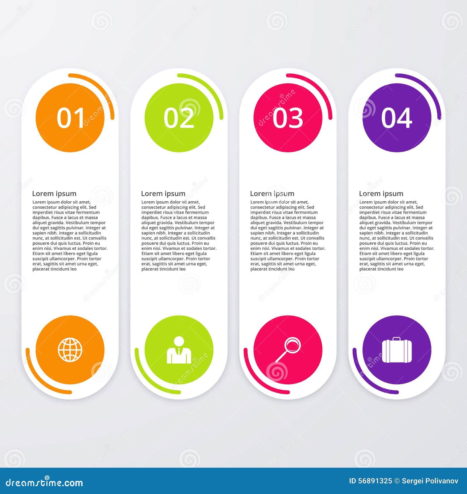 Infographics dell illustrazione di vettore quattro opzioni