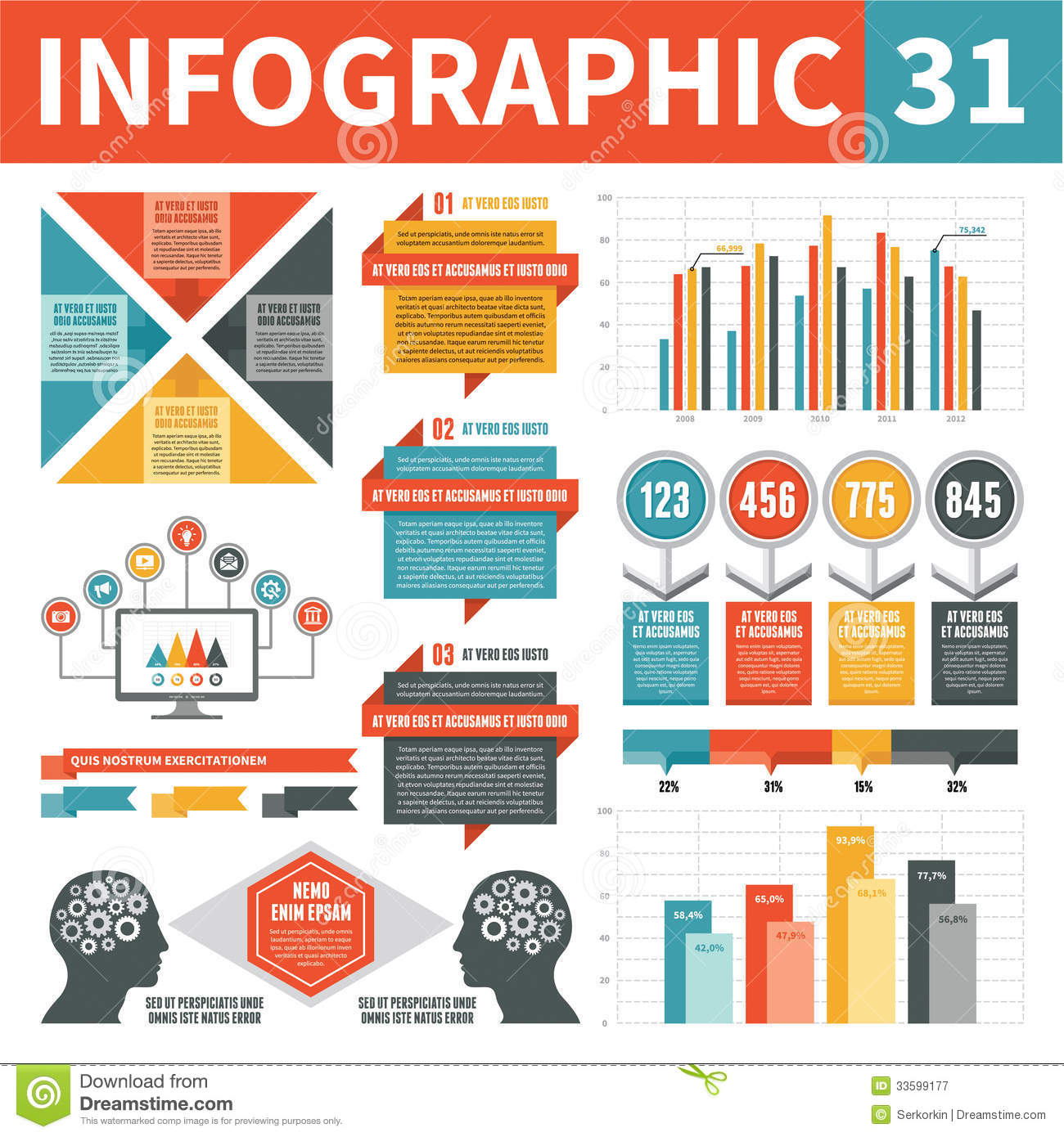 Infographics Design Elements 31 Royalty Free Stock ...