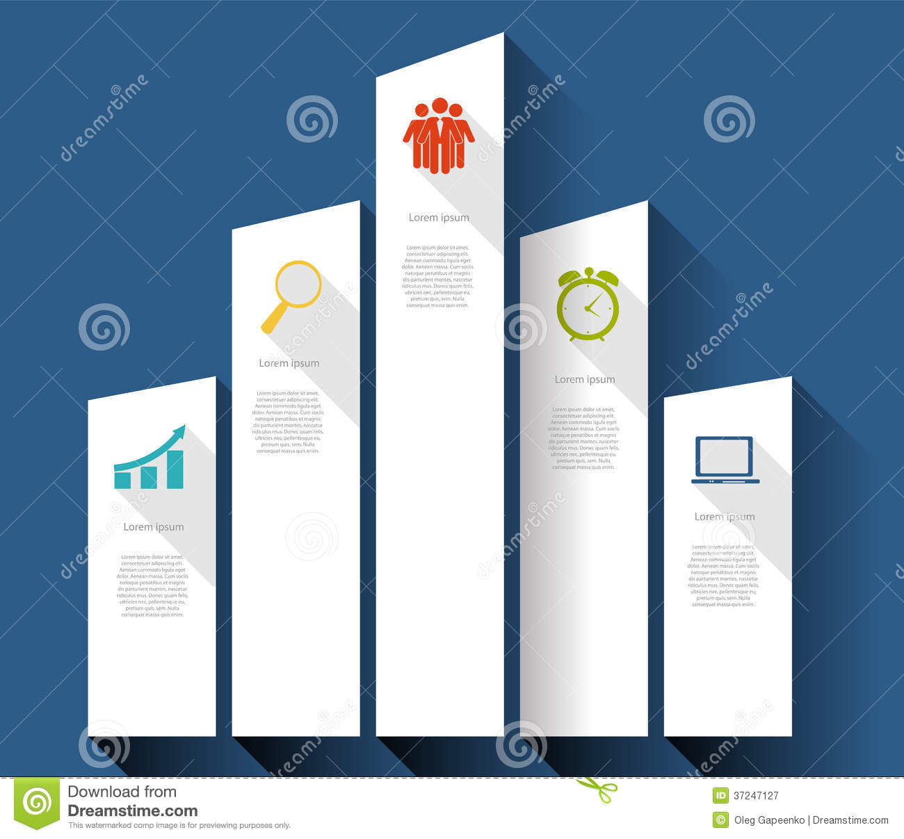 INFOGRAPHICS design flat elements with long